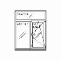 Окно Т-образное