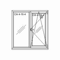 Окно 2-х частное