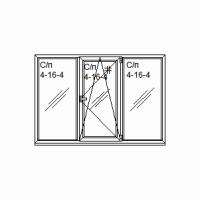 Окно 3-х частное