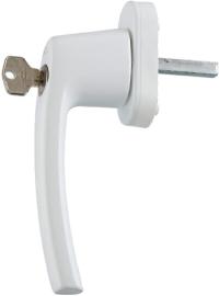 Оконная Ручка «Roto Line» - Белая с ключем